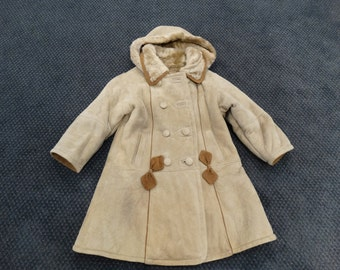 Mouton Jacket,Real Fur Coat For Children F215