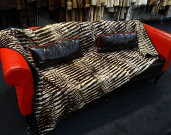 Sheared Beaver Fur Blanket F756