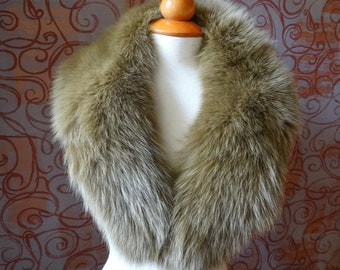 Real Large Fox Fur Collar,Collar Fur for Leather Jacket