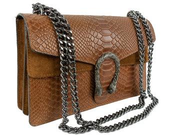 Leather Shoulder Brown Bag