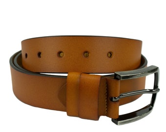 Men's leather belt in Brown classic design