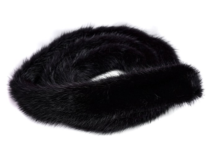 Fur Belt, Black Belt, Black Fur F1025