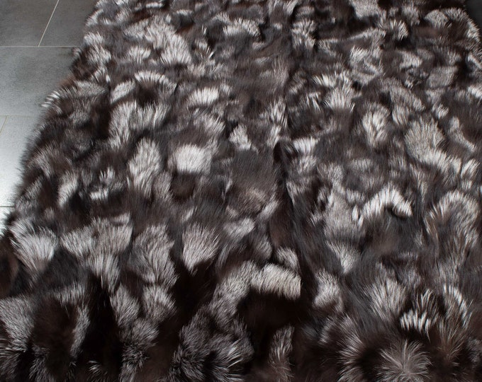 Silver Fox Fur Carpets F1024