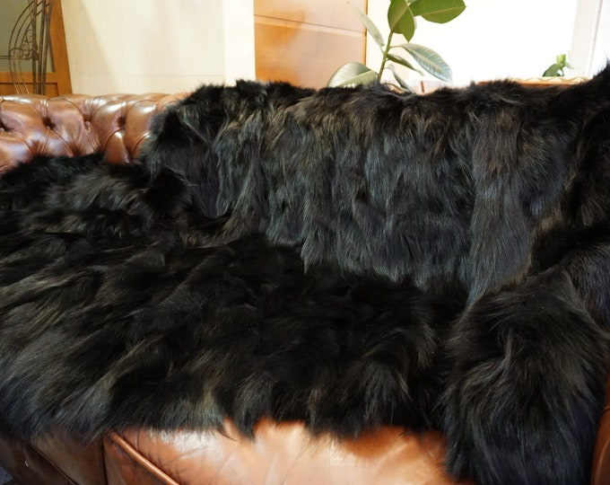 Fox Fur Blanket | Fluffy Fur Throw | Ideal For Your Home Decor Or Housewarming Gift