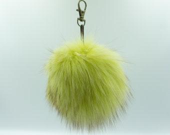 Fur Pom Pom   Fox Accessories Gift For Her   Fur Ball Keychain   Fur Bag Pom Pom   Fur Bag Charm