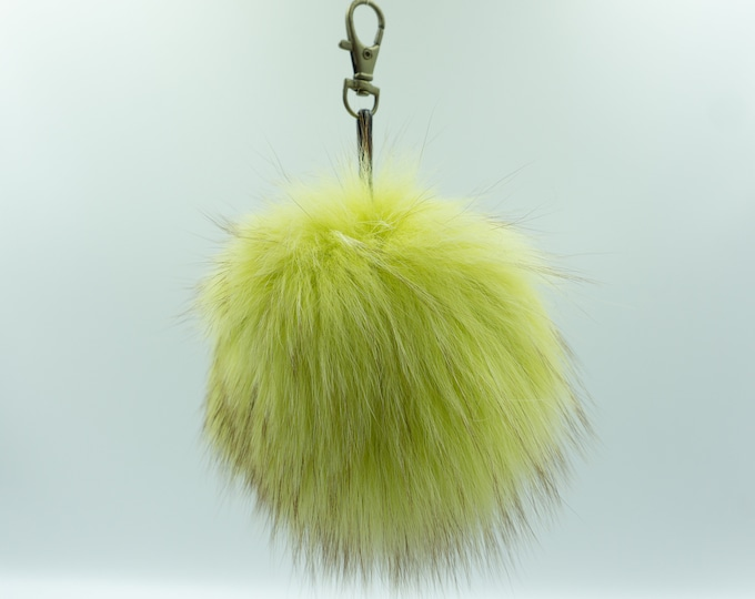 Fur Pom Pom | Fox Accessories Gift For Her | Fur Ball Keychain | Fur Bag Pom Pom | Fur Bag Charm
