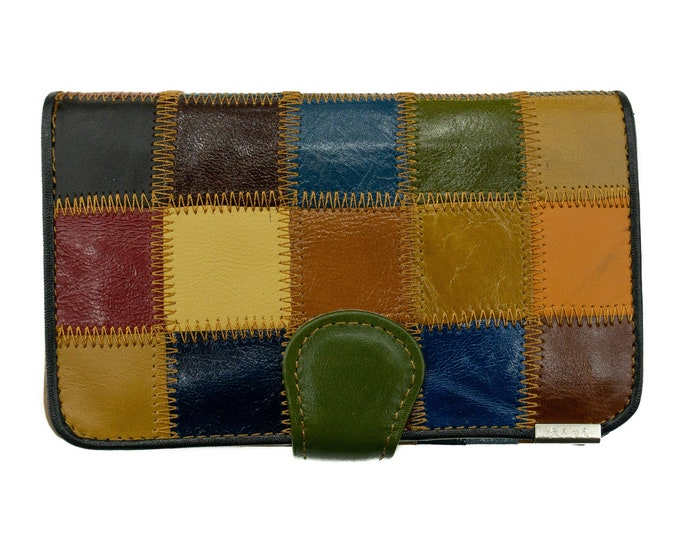 Genuine Leather Wallet Colorful | Leather Wallet Purse Gift For Her