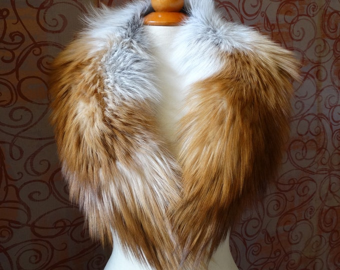 Large RedFox Fox Fur Collar F910