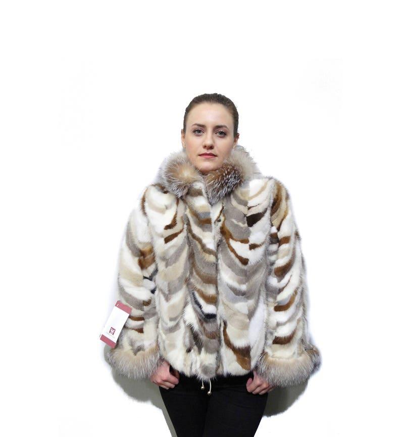 5a61c7565 Fur coat,Fox collar coat,Real Mink Fur Pieces,Fur Jacket,fox collar,real  mink fur,fox fur,fox pelt,winter coat, F807