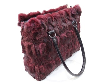 Bordo fur bag,Rabbit fur bag F482