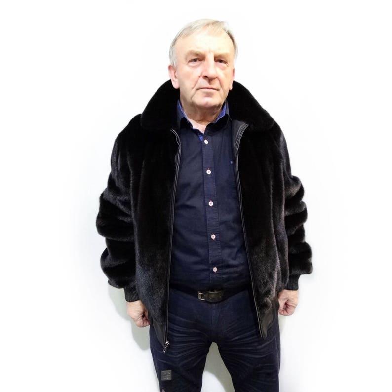 san francisco 86e2c 7d5e1 Herren Jacke, Herren Fell, Herren Lederjacke, Doppel-doppelseitige Jacke,  Jacke, Nerz-Jacke, schwarze Jacke, Herren-Pelz-Jacke F457