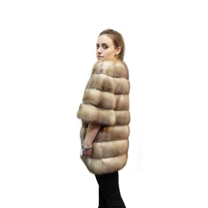 Top Real giacca di pelliccia di martora con pelle lusso  a4e0c729dc35