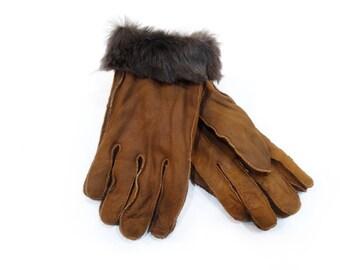 Mouton fur gloves, Men's Gift F523