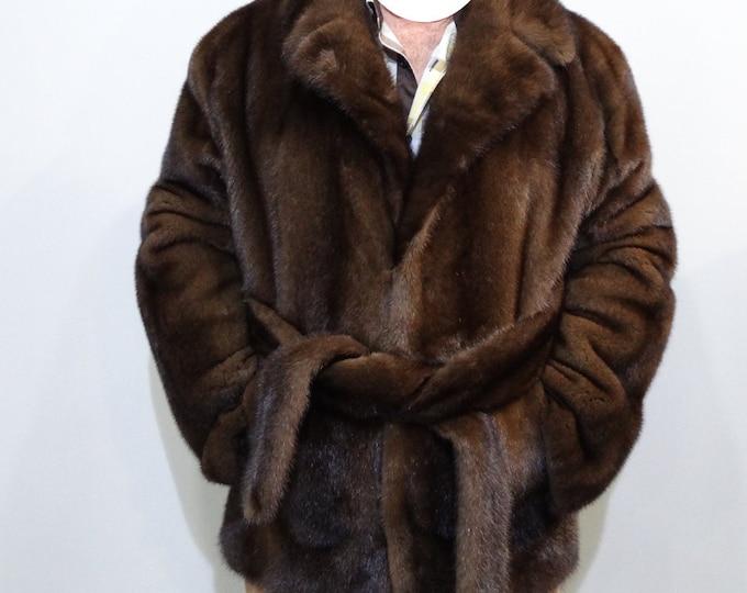 Real Mink Fur Jacket For Men F199