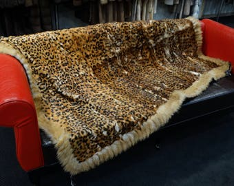 Fashion Leopard Stamp Couch Throw F755