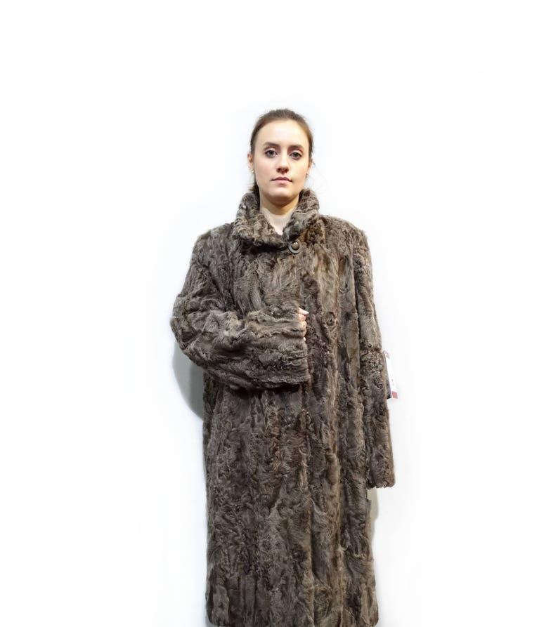 Giacca di pelliccia Karakul reale Pelliccia astrakan giacca  39a89f2cc4f