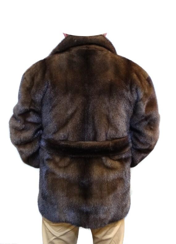 Online-Einzelhändler kostenloser Versand dauerhafte Modellierung Echte Nerz Pelz Jacke für Männer, Herren-Pelz-Jacke, Mode Jacke, Herren  Jacke, Herren Nerz, braune Jacke, Echtfell, Winterjacke, Herren Geschenk  F199