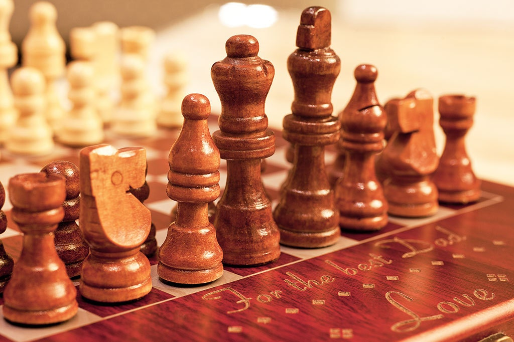 Personalized Chess Set Live-Love-Chess Custom   Etsy