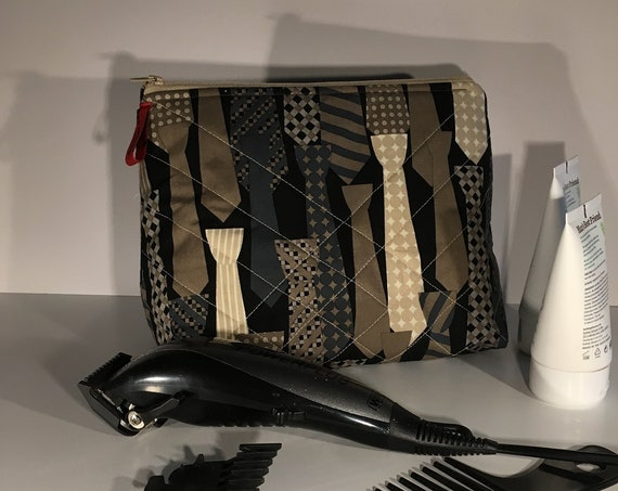S - 666 Large mens toiletries bag - ties design