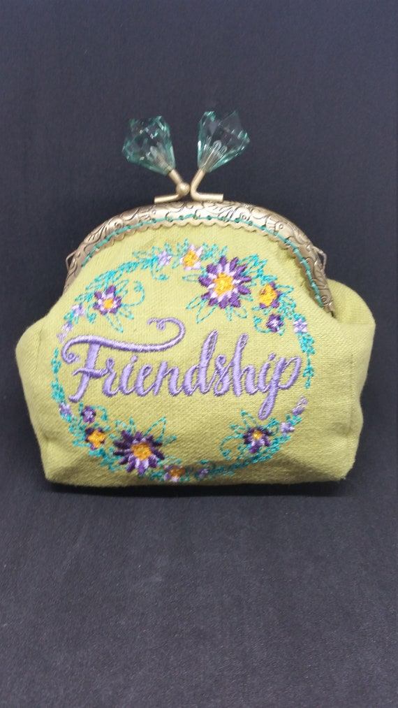 CP639.  Friendship design coin purse.