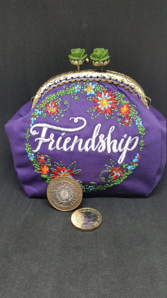 CP628.  Friendship design coin purse.