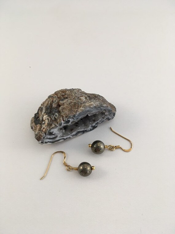 S - 683 Pyrite earrings