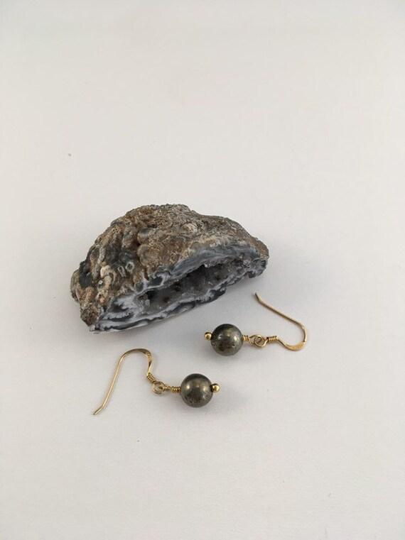 S - 683 Pyrite earrings