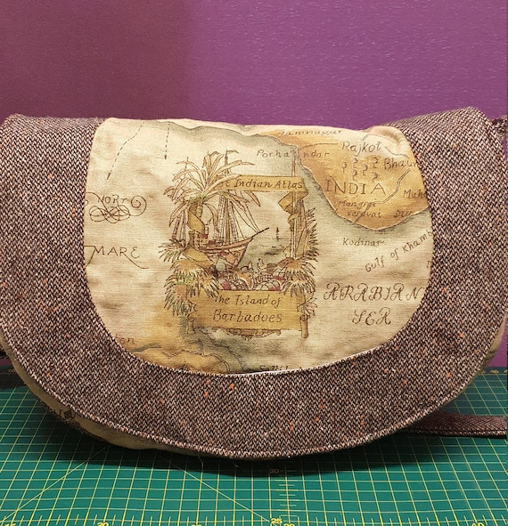 B744.       The Ancient map saddle bag.