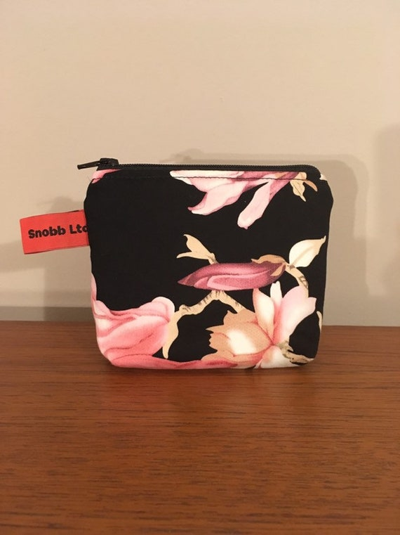 S - 756 Small cosmetics bag with orchids design