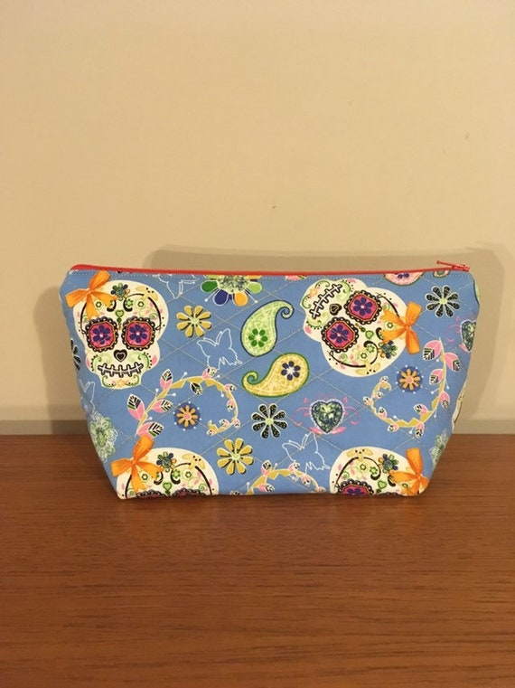 S - 754 Cosmetics bag with sugar skull design