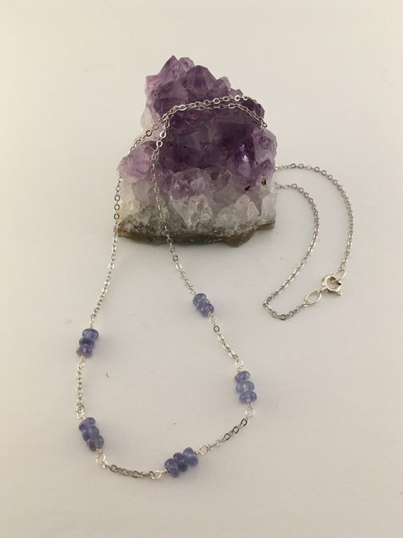 S - 775 Tanzanite necklace with 925 sterling silver