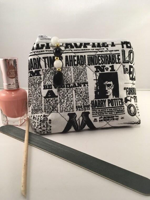 S - 895 Harry Potter fabric purse/ small makeup bag