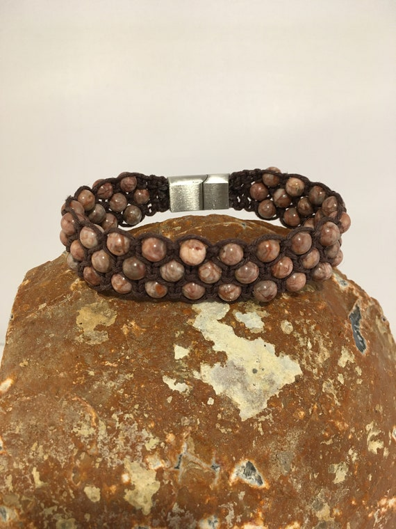 SMB - 001 Men's, jasper bracelet