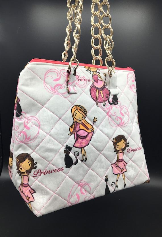 S - 033 Lunch bag/ toddler shopper for 'Princesses'!