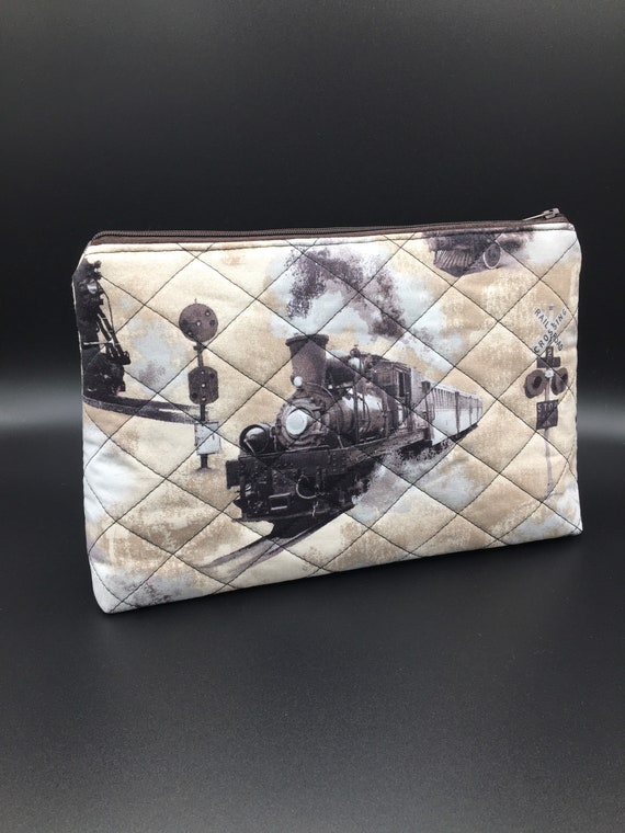 S - 036 Wash bag featuring steam trains!