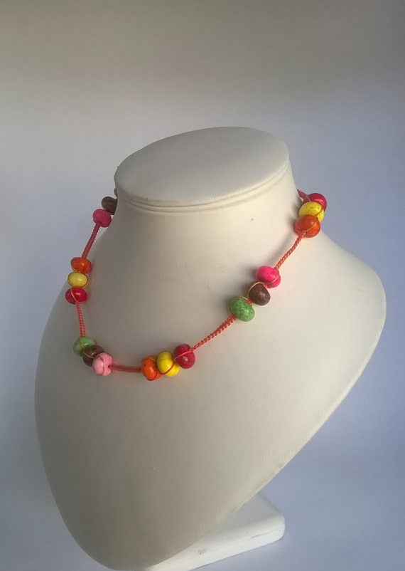 Sale - 285 Necklace featuring bright colours