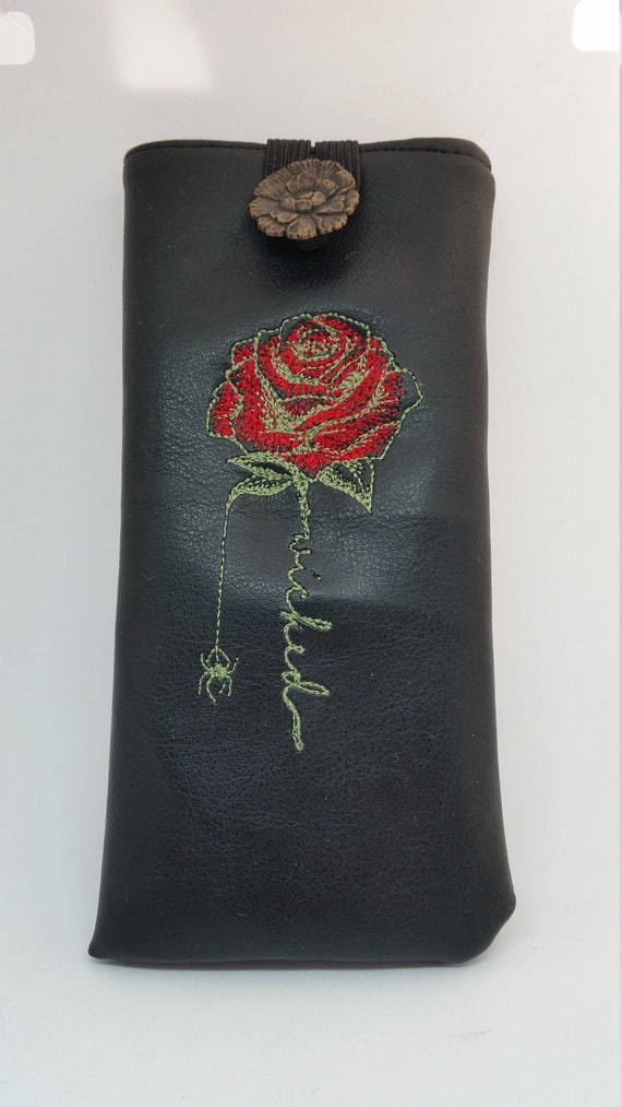 GC688.  The wicked rose glasses case