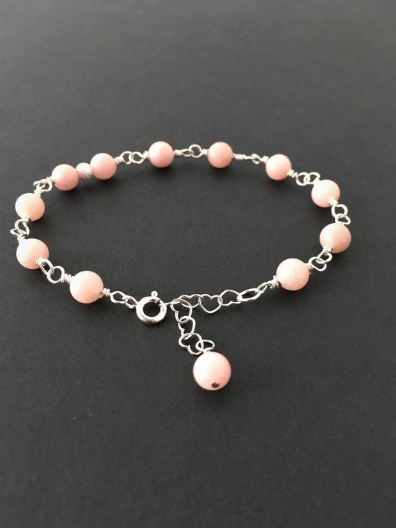 S - 656 pink opal bracelet