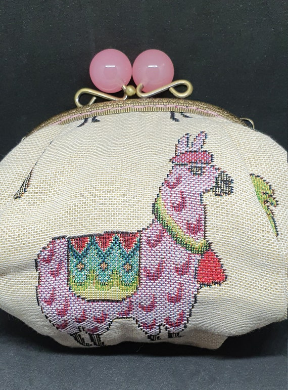 CP716.       The large cream Llama purse
