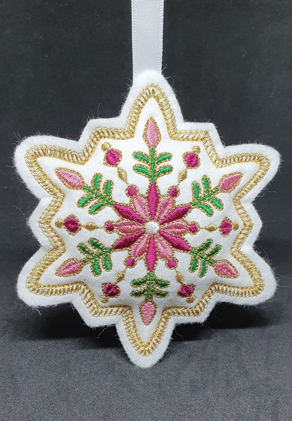 X053.   Festive filigree Christmas ornament - Snowflake