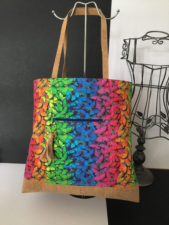 SB0031 Butterflies, colourful shopper