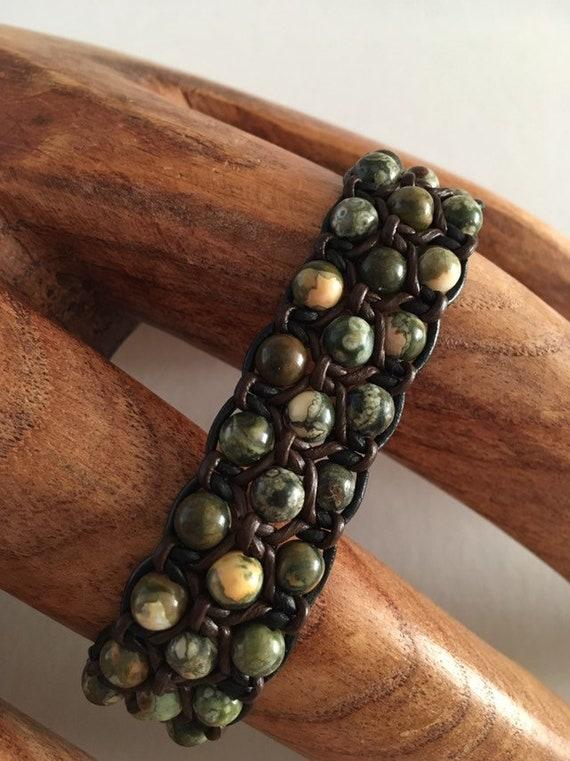 S - 696 Men's jasper bracelet