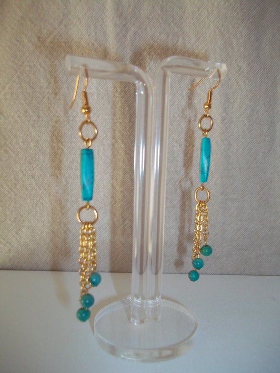 SALE - S - 160 magnesite and turquoise