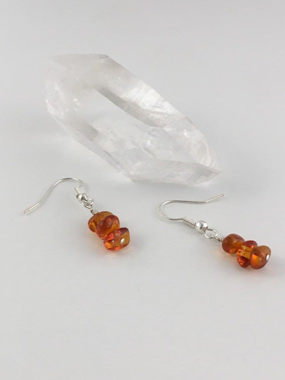 S - 682 Amber earrings