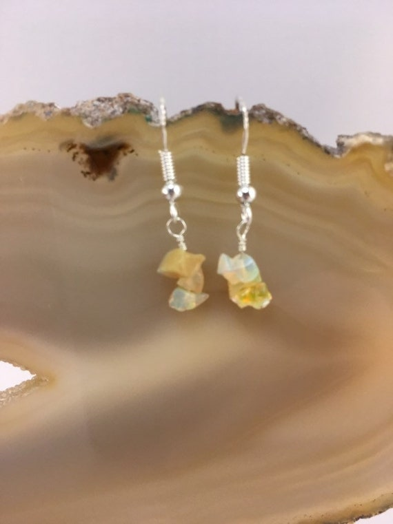 S - 691 Ethiopan opal earrings