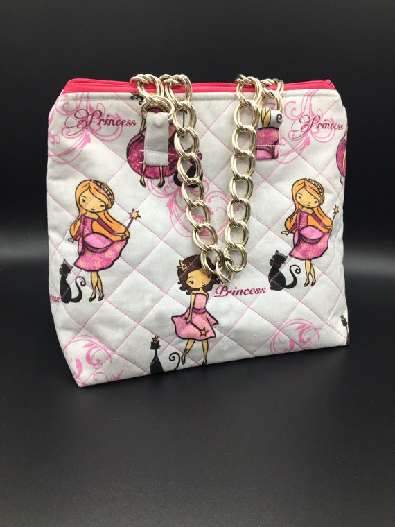 S - 033 Lunch bag/ toddler shopper for 'Princesses'!