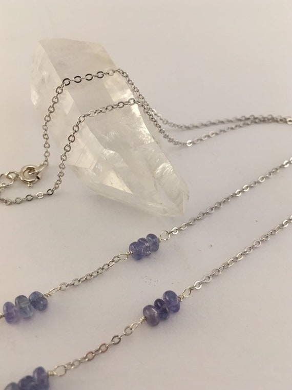 S - 775 Tanzanite necklace