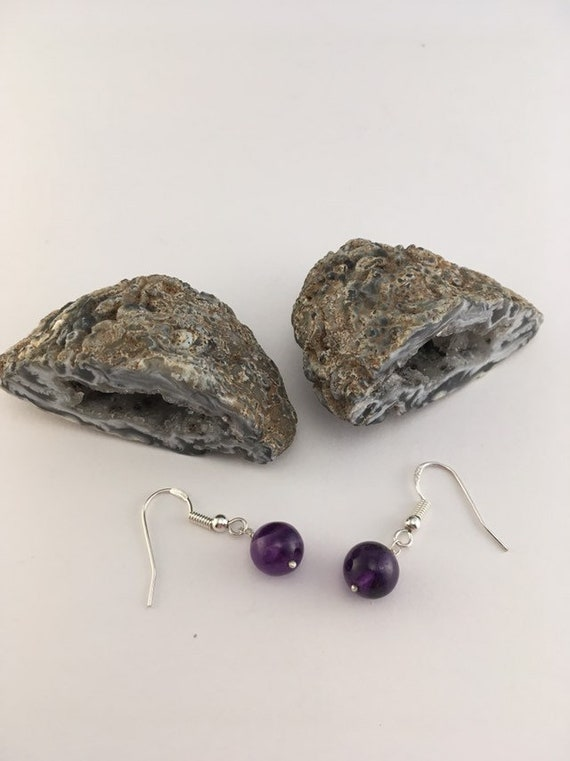 S - 786 Amethyst earrings