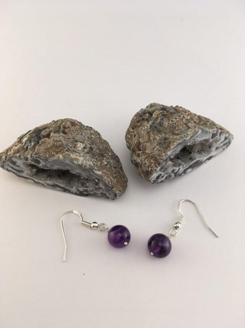 S 786 Amethyst earrings