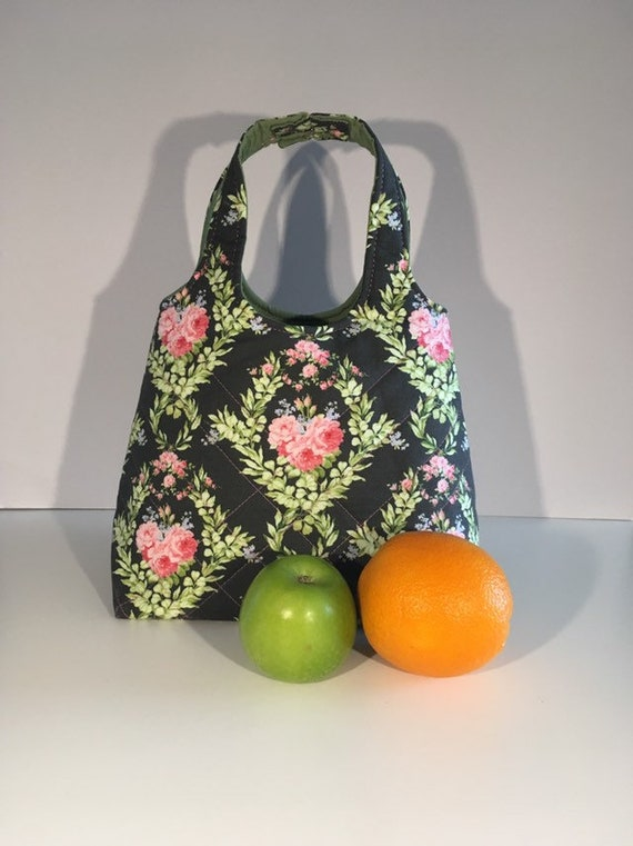 LB001 - Lunch bag -flowers!